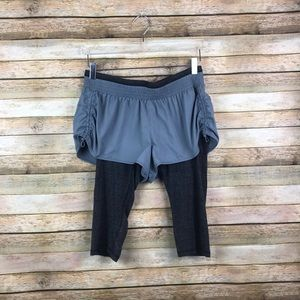 Athleta • Go Getter 2 in 1 Knicker Capri Shorts for sale
